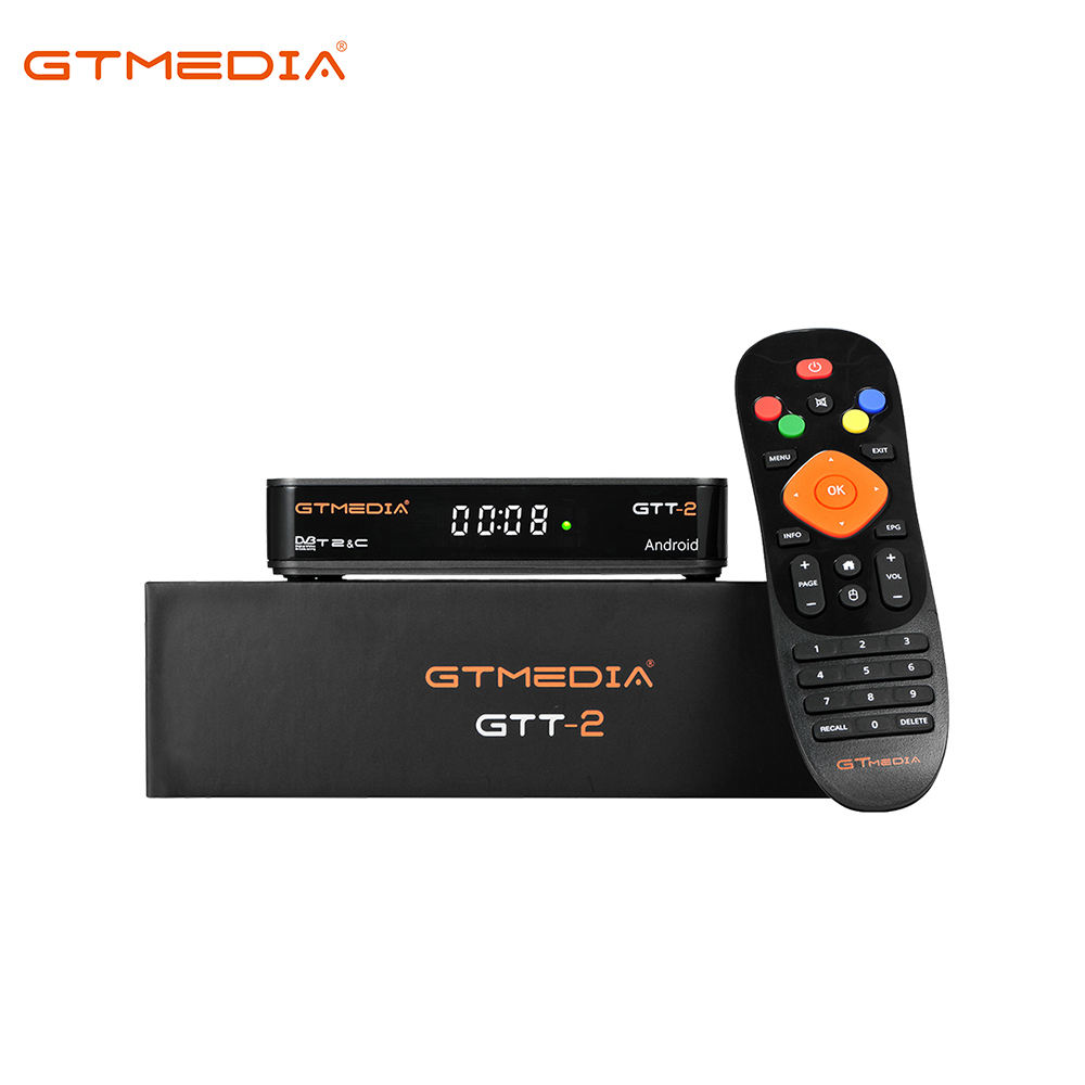 GTMEDIA GTT-2 Android 6.0 TV BOX + DVB-T/T2/Kabel/ISDBT 2GBRAM + 8GBROM IPTV HD tuner Antenne Receiver Android Set Top Box