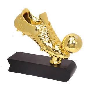 Leather shoes and football model resin trophy, electroplating technology resin trophy apply to souvenir