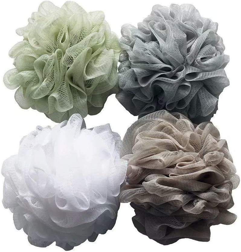 Bath Shower Sponge Loofahs (60g/pcs) Mesh Pouf Shower Ball, Mesh Bath and Shower Sponge