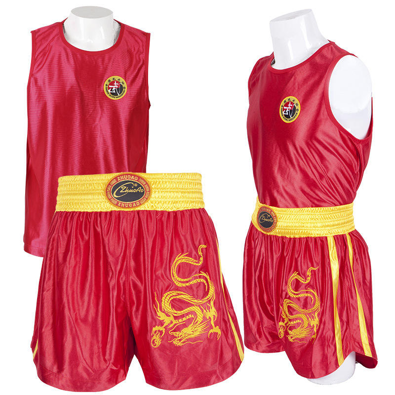 Wholesale & Retail Professional Good quality Muay Thai Wushu Sanda Boxing Clothes/Suit