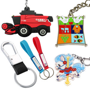 NO MINIMUM Custom Keychain, Personalized Cheapest Rubber, Metal, Acrylic & Leather Keyring
