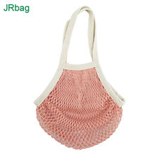 BSCI Audit Factory Eco Friendly Washable Fruits Grocery Reusable Shopping Cotton mesh Bag for Vegetables