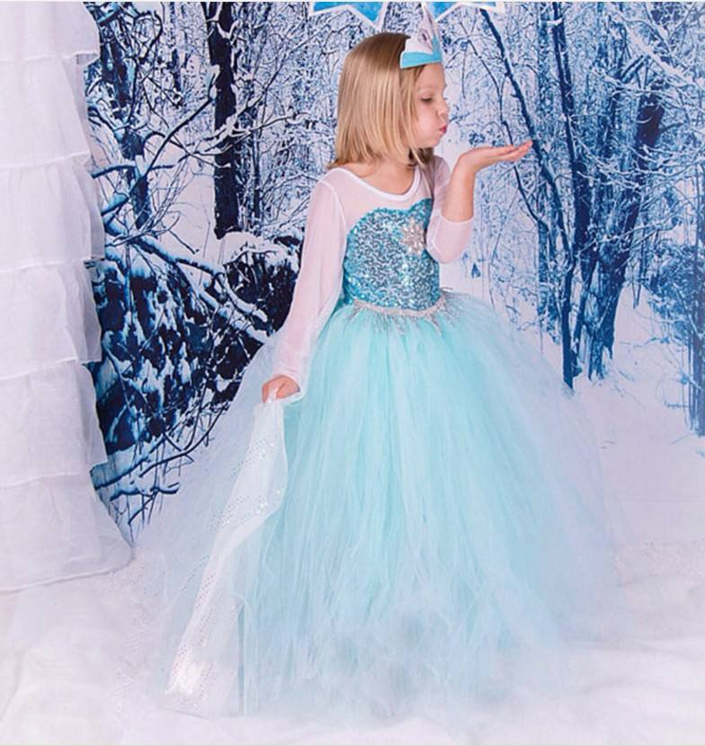 Frozen Elsa party performance outfit halloween Cosplay dresses fairy tale gift Costumes BX1699