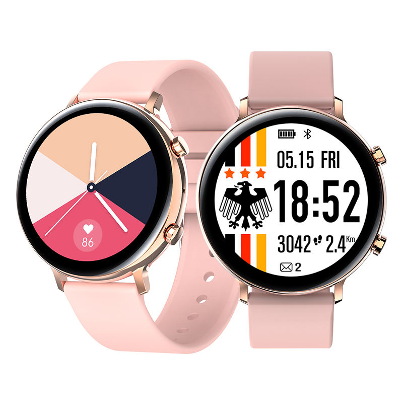 2020 GW33 BT Call Smart Watch IP68 Waterproof Full Touch Screen Ecg Blood Pressure Rose Gold SmartwatchためWomen Men