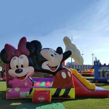 Buy Commercial Mickey mouse inflatable bouncing jumping slide bouncy castle bounce house