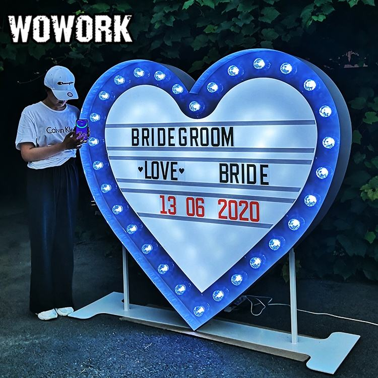 WOWORK large big cinema light box for wedding party celebration with changeable letter card