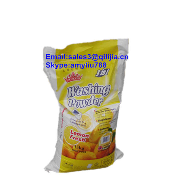 25KG Bag Lose White Powder With Color Speckles Laundry Machine Using Detergent Washing Powder