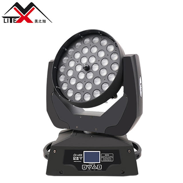 Disco stage decoration 36 x 10w rgbw 4in1 led moving head wash zoom light