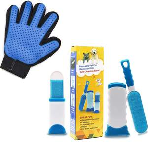 Pet Hair Remover Kit Dog Cleaning Glove Brush Tool Set Dog Cleaning Tool
