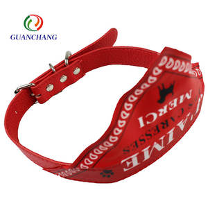 High quality Custom logo nylon bandana dog collar Bulk