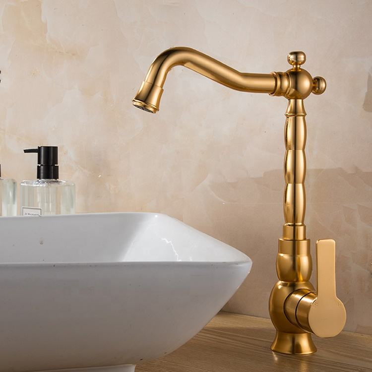 Modern deck mounted tap single lever mixer handle water wash basin faucet for bathroom
