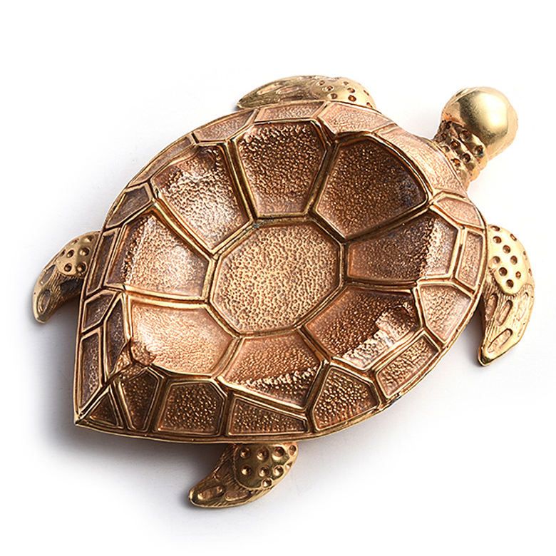 Creative Tortoise Shaped Ornaments Alloy Cigarette Ashtray for Home