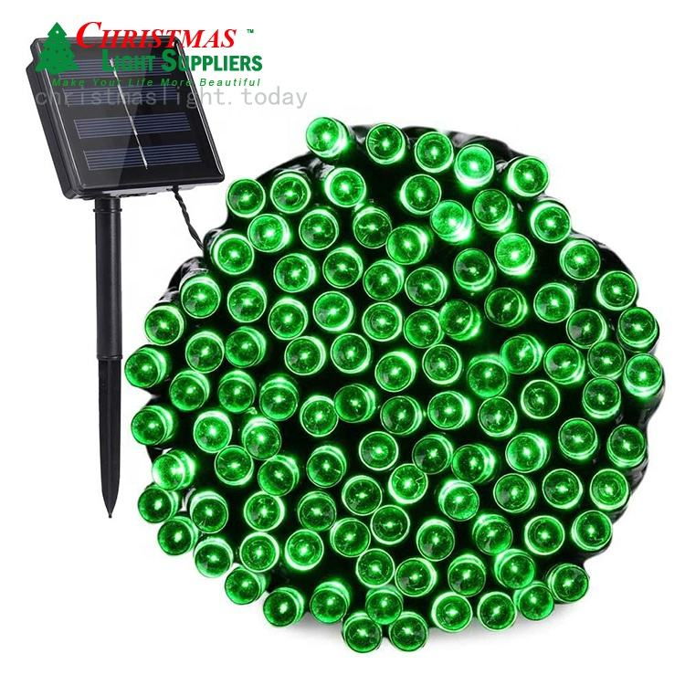 Green Solar Powered 72ft 200 LED String Lights 8 Modes Twinkling Waterproof Led decoration Lights Garden Patio Xmas