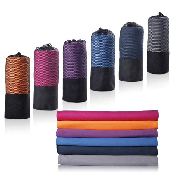 NEW microfibre suede towel sports with mesh bag