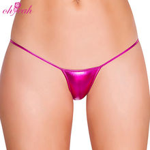 Wholesale mini leather pvc sexy girls g string panties