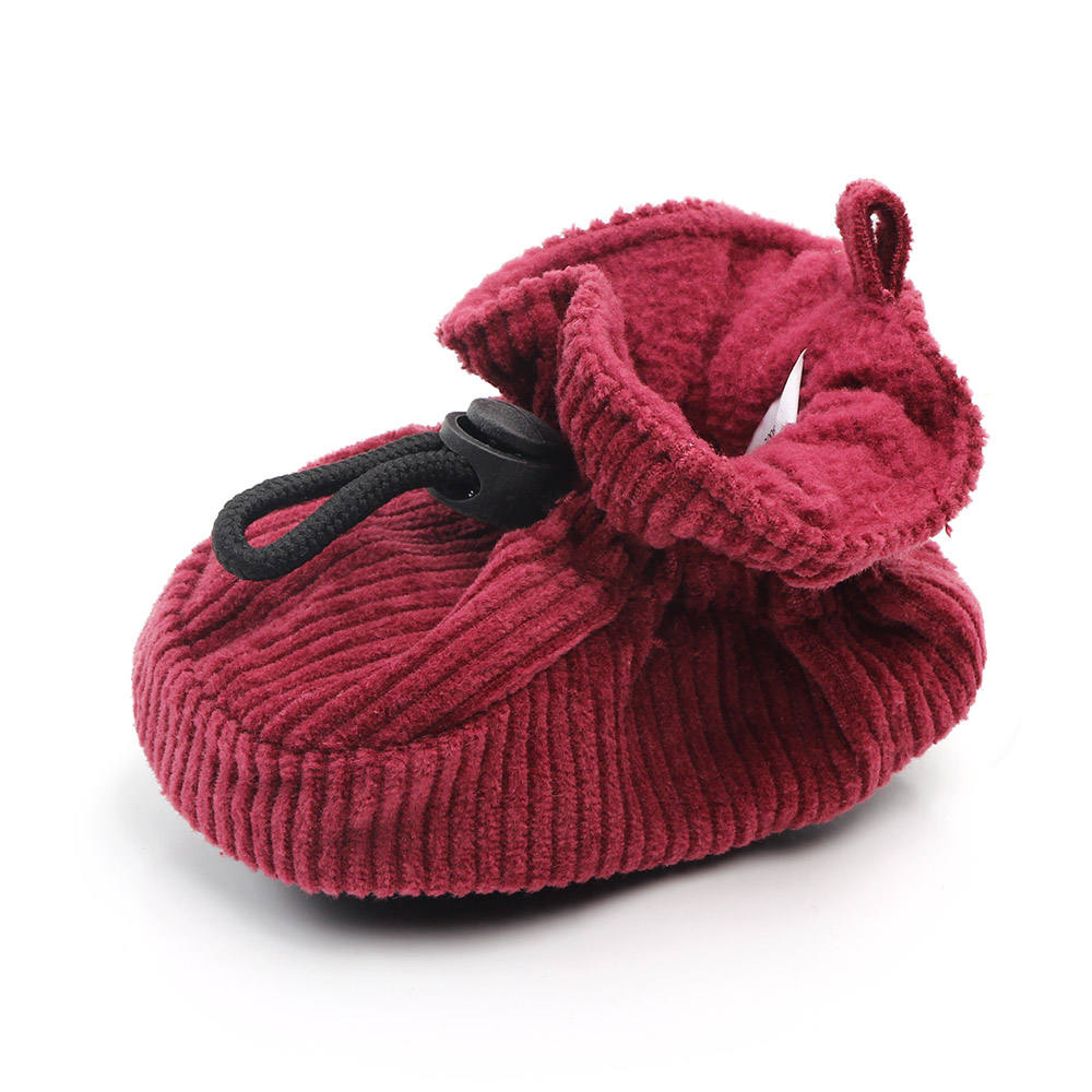 Comfortable lace-up corduroy baby infant newborn booties
