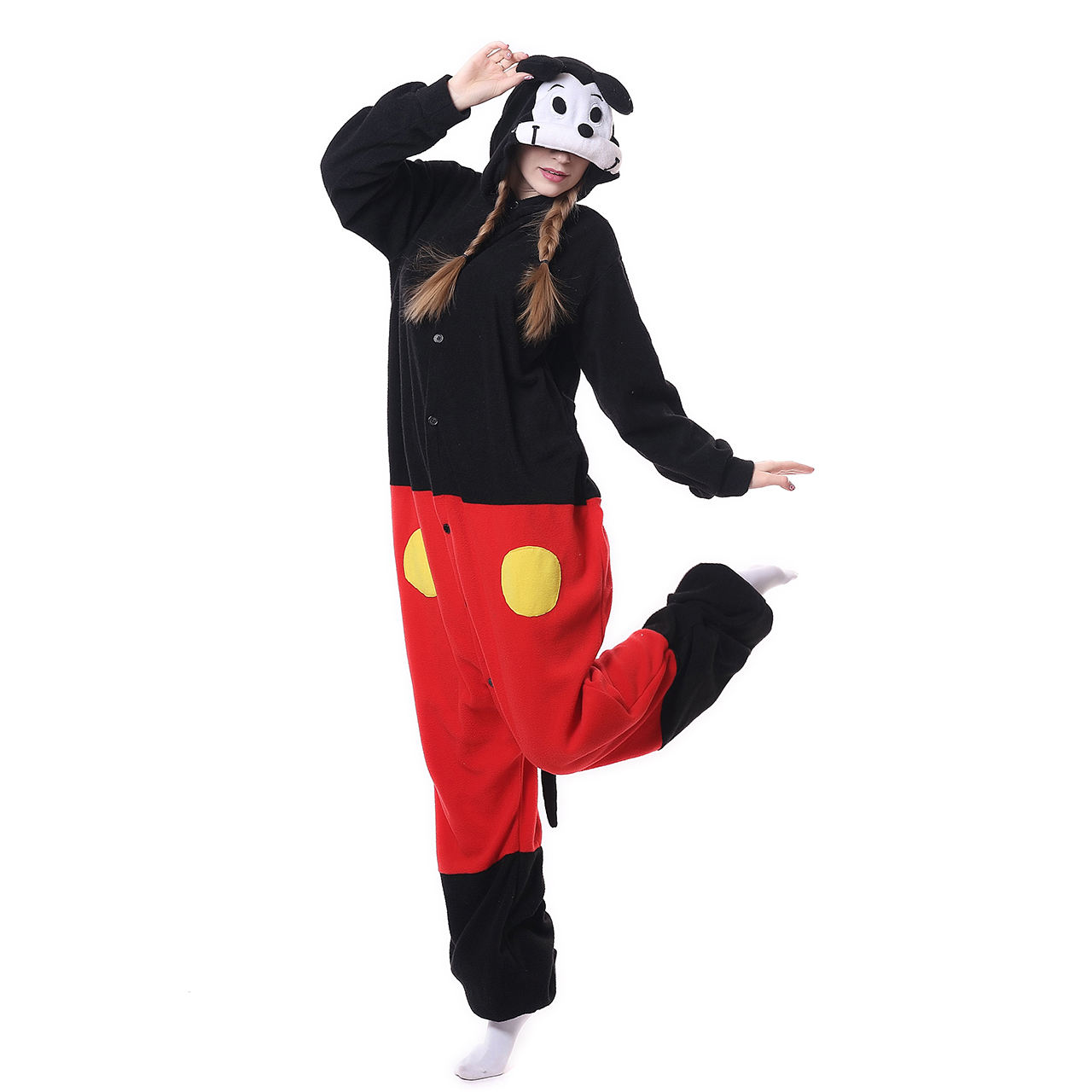 Super Cute Pup Onesie Girl And Mouse Animal Wholesale Pajamas Polar Fleece Kigurum For Party