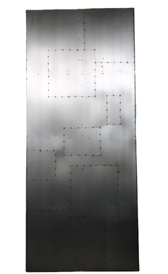 Industrial Stainless Steel Cover Heavy Duty Anti-fired Iron Metal Security Door For Warehouse