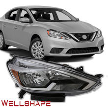 car cars head lights for 2016-2018 NISSAN SENTRA HEADLIGHT  HALOGEN LAMP black   OEM
