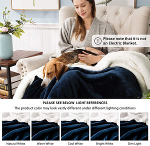 Promotional Living Micro Fiber Morden Throw Plush Flannel Goats Wool Super Soft Warmer Chunky Knitted Fleece Big Sherpa Blanket