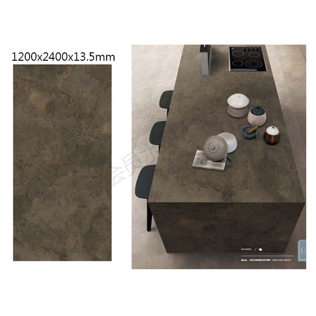 48x96 Inch Matt 13.5mm Thick Industrial Tiles Countertop Slab 1200x2400 for Big Project