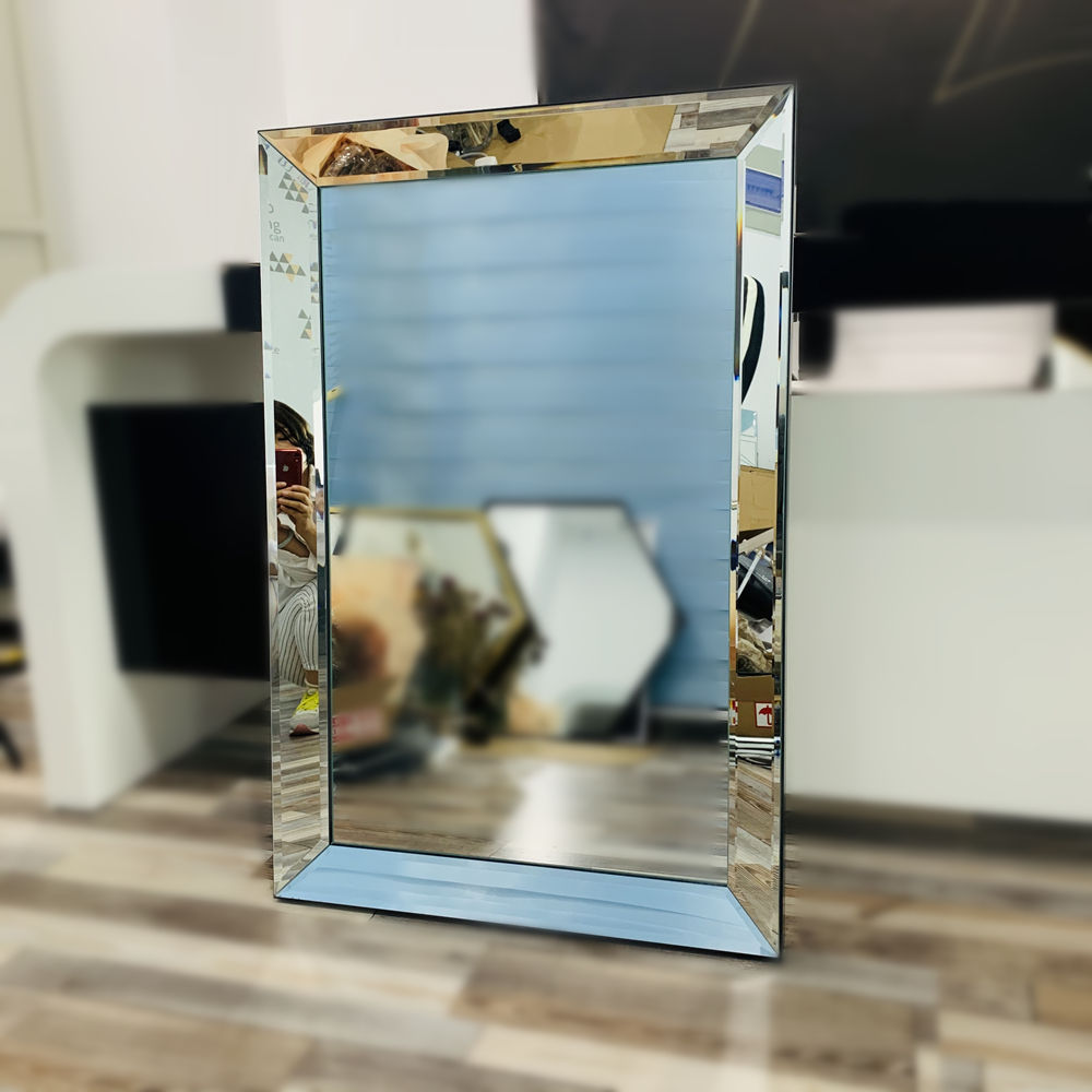 60.5*91.5cm size mirror framed beveled wall mirror