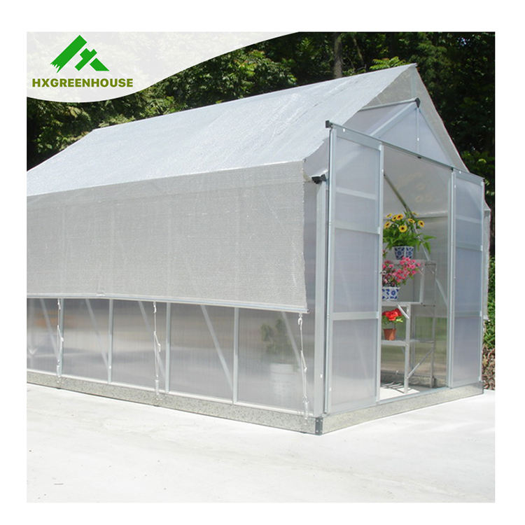 High-end Sun Resistance Commercial Waterproof Polycarbonate Greenhouse Sunshade with Aluminium Frame for Sale