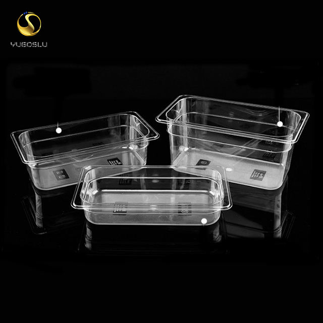 YUGOSLU Wholesale kitchen accessories high quality buffet food pan full sizes plastic 1 4 gn pan plastic gastronorm container