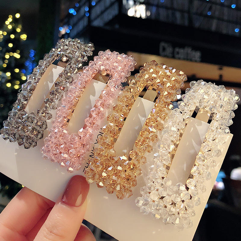 Pack of 8 Glitter Hair Clips Animal Design Bendies Girls Hair Accessories Clip