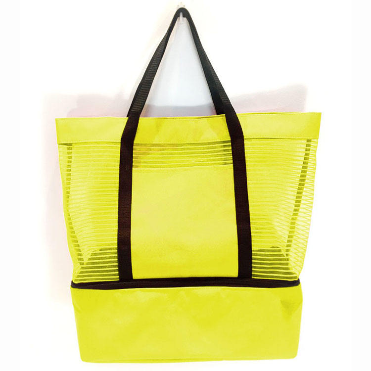 Elegance Simple Casual Ladies Eco Friendly Mesh Beach Tote Beach Clear Bags
