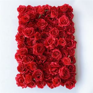 F 1702 Wedding Backdrop Panels Silk 40*60CM Artificial Red Rose Flower Wall