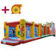 Anmu commercial amusement park equipment backyard fun kid's sport game clown theme boot camp slide obstacle course inflatable