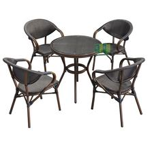 Bistro Chairs Outdoor Table And Furniture Stacking Tables Paris Garden Patio Restaurant Aluminum Cast Style Modern Cafe Chair