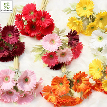 High Quality Artificial PU Gerbera Daisy Flower Bouquet Real Touch For Home Wedding Decoration Table Center Piece Flower