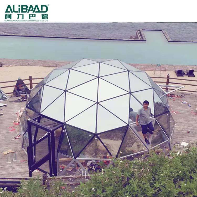 Luxury glass eco geo air dome tent 6m diameter for resort hotel