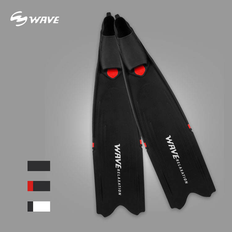 Custom spearfishing footpockets professional adult carbon fiber glass training spearfishing long diving freediving fins