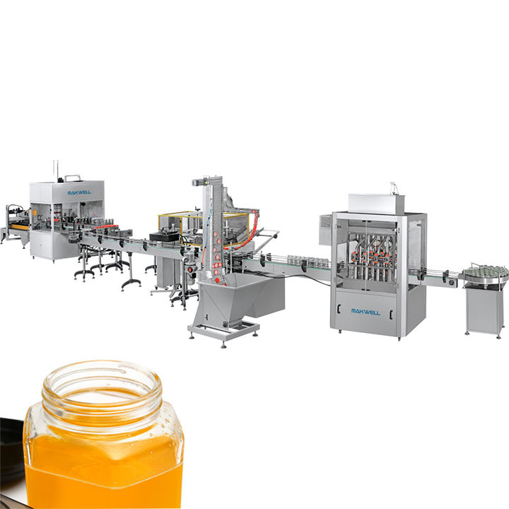 Honey Paste Bottle Packing Piston Filling Capping Machine