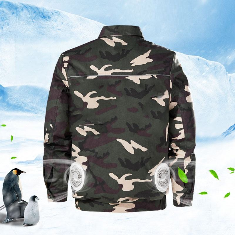 Wholesale Cooling Fan Jacket Outdoor Men Work Clothes Camo Air Conditioner