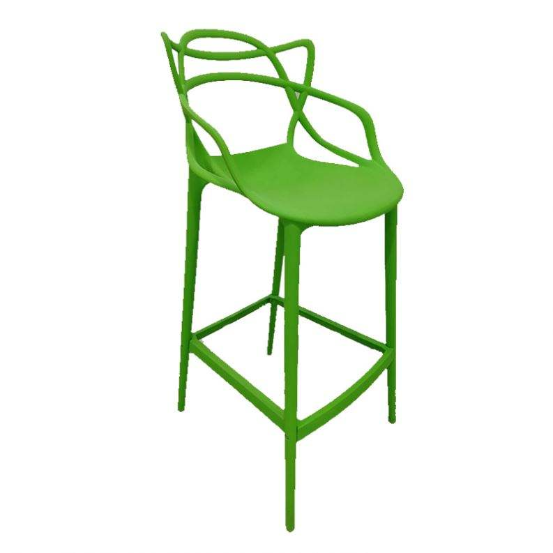 Rattan design modern plastic wholesale counter Rattan vintage bar chair acrylic bar stool dining chairs for restaurant