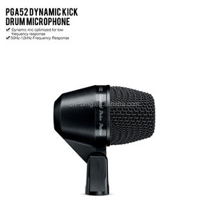 High quality PGA52 Dynamic Kick Drum Microphone with Cardioid Polar Pattern and 50Hz-12kHz Frequency Response mic for drum