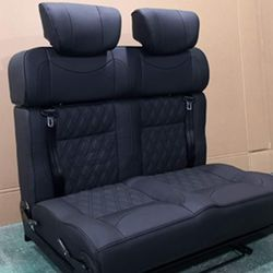 Leather sofa double or single sliding on RV CAR Self mounting with  lashing  track  rail