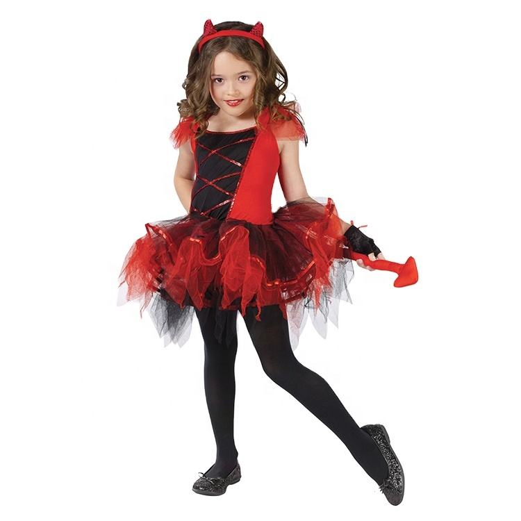 New design customized devil cosplay costume party costume red devil costume for children