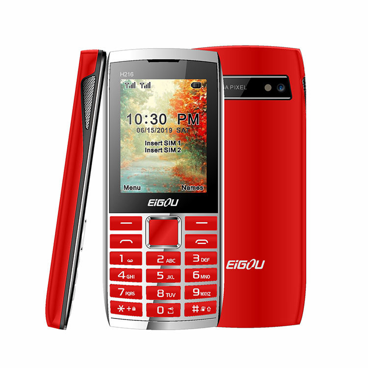 2.4 zoll Big Battery 1800mAh Special Design Simple Used Mobile Quad Band GSM 2G Feature Phone