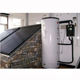 High pressure split solar water heater with heat pump