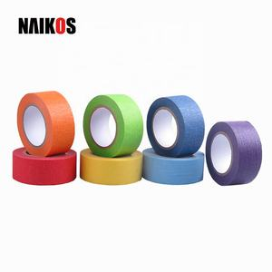 Rainbow Candy Color Sticky Paper Masking Tape for Art Labeling Decorations