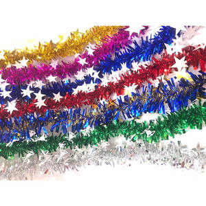 High Quality Colorful Christmas Ribbon Garland Ornaments Tinsel Hanging Decorations