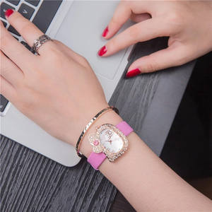 Kustom Logo Anda Jam Tangan Hello Kitty Berlian Watch Wanita