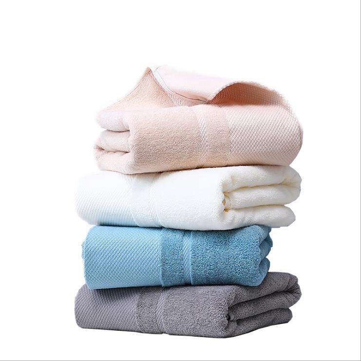 Wholesale cheap 100% cotton bath towel,fabric plain dyed size face towel for hotel