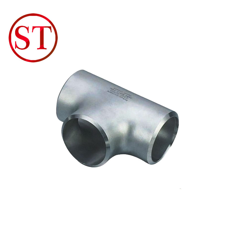 ASME B16.9 Stainless Steel A403 WP304 BW SCH80 SCH120 Equal Tee