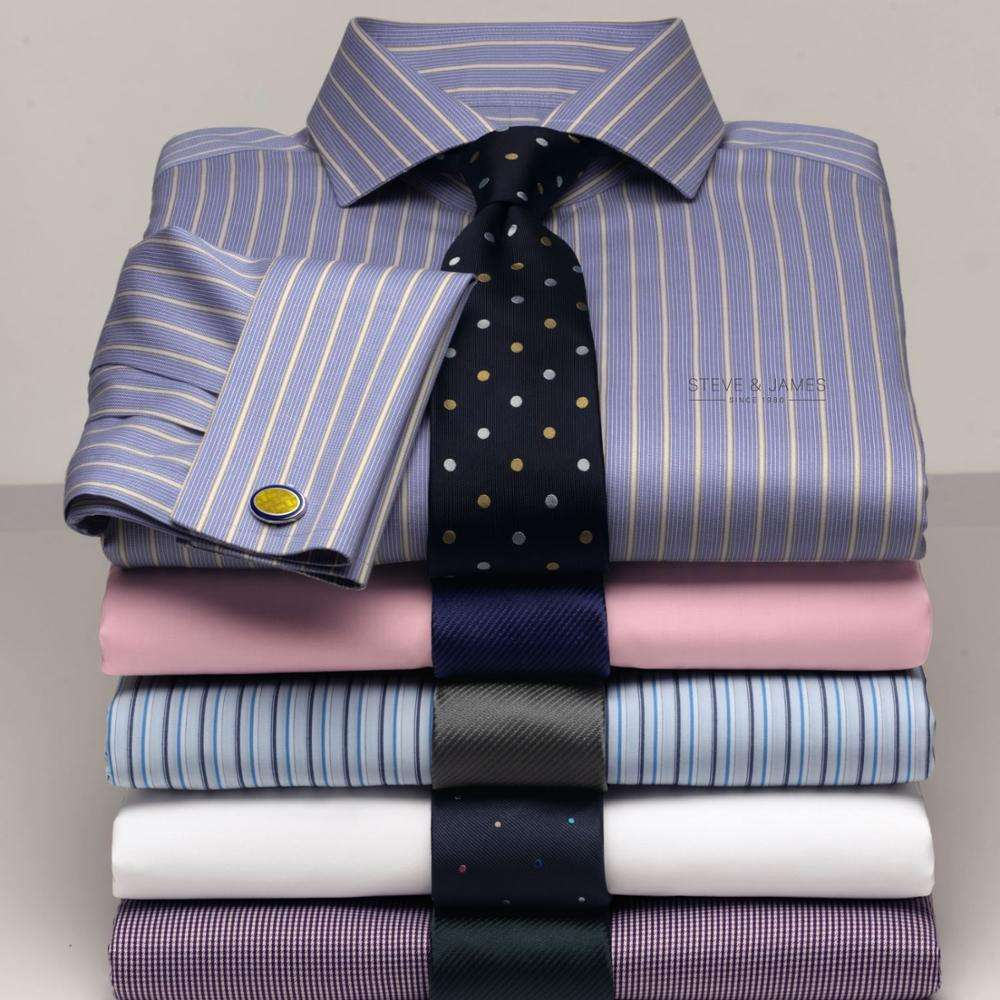 2020 Hot Selling Business Shirt Slim Fit 100% Cotton Dress Shirts for Mens